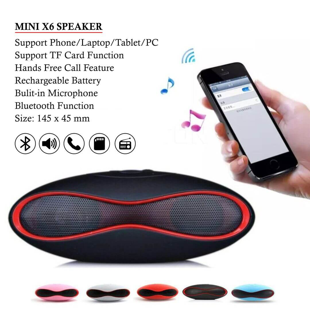 Mini X6 Portable Bluetooth Speaker