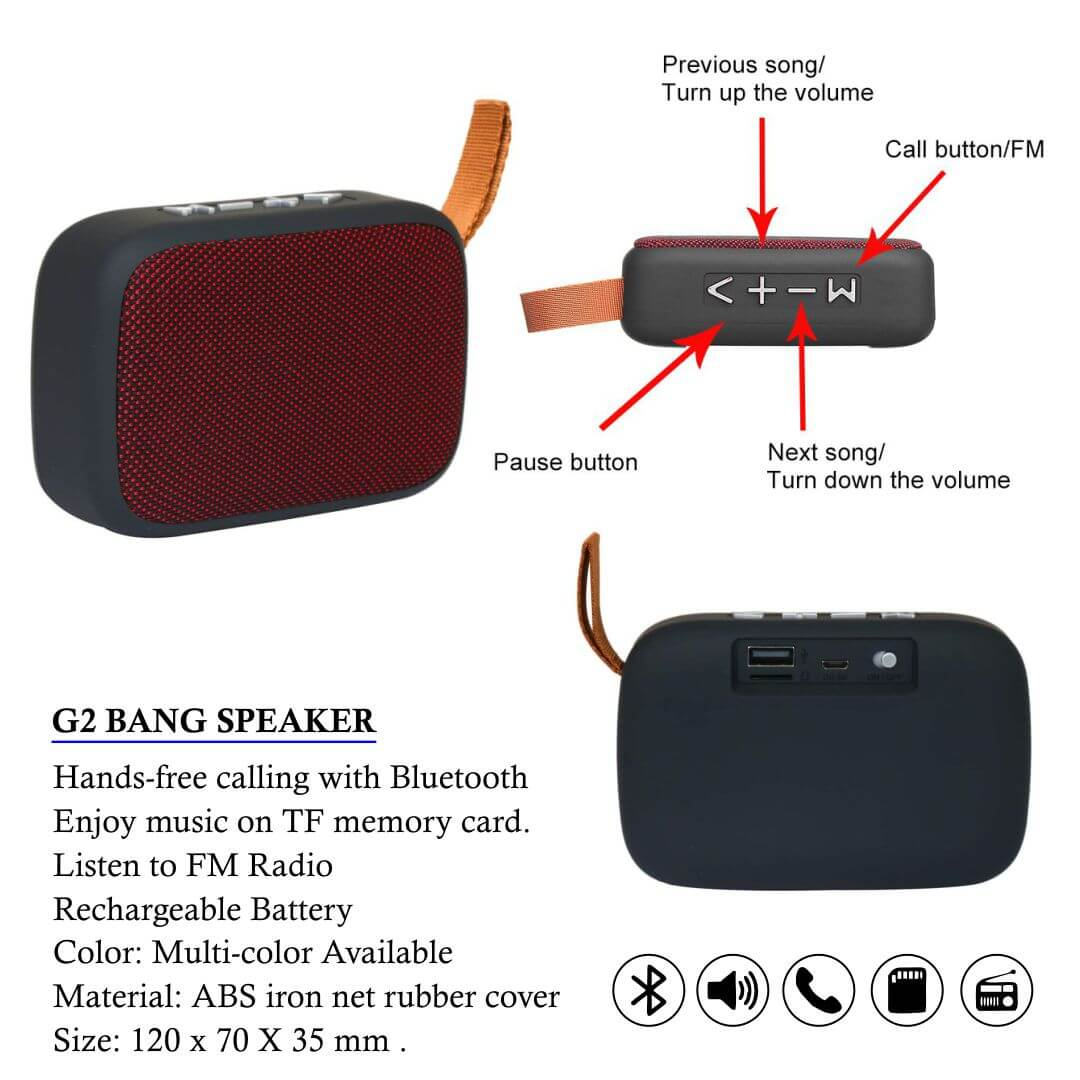 G2 Wireless Portable Bluetooth Speaker
