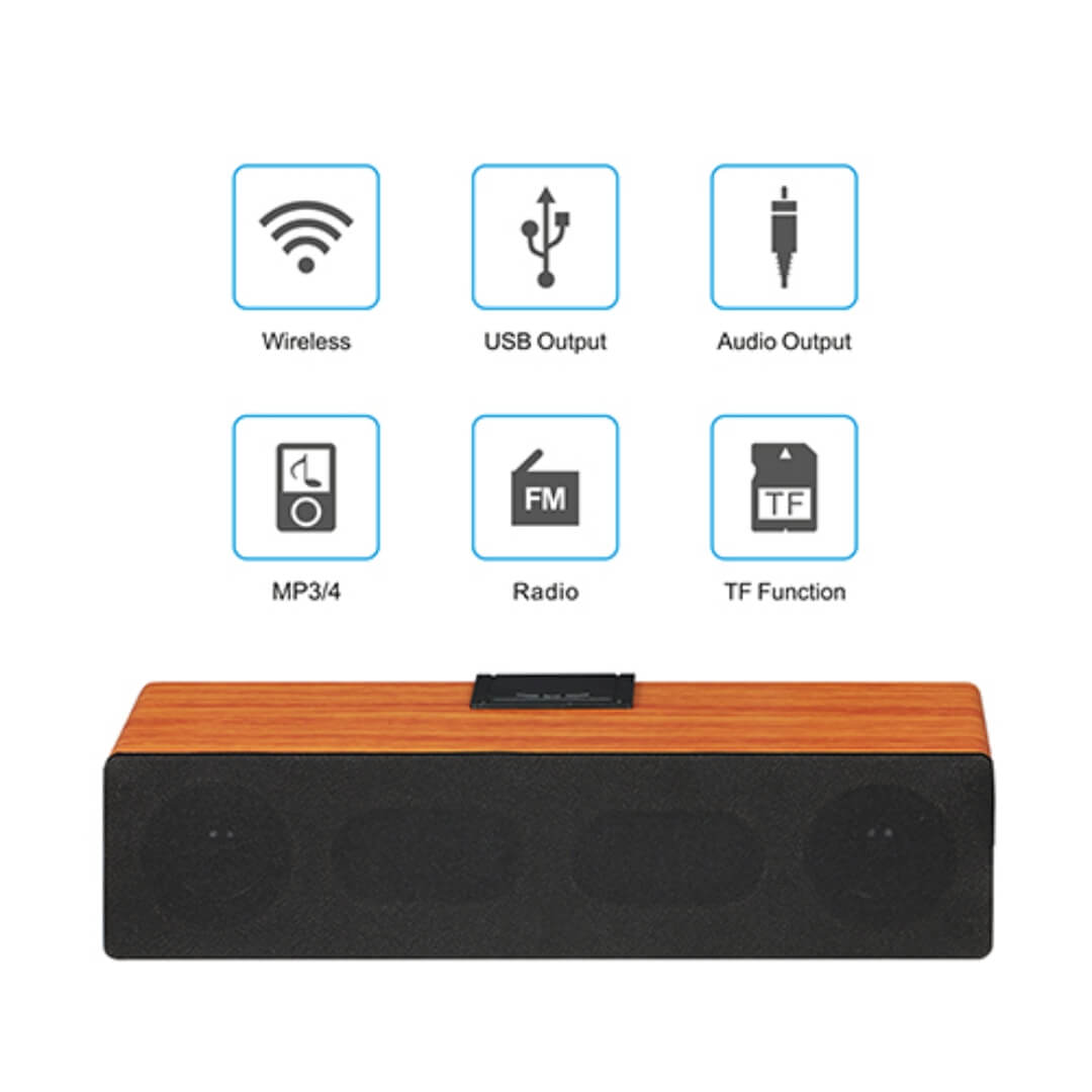 Wooden Beat Box Portable Speaker