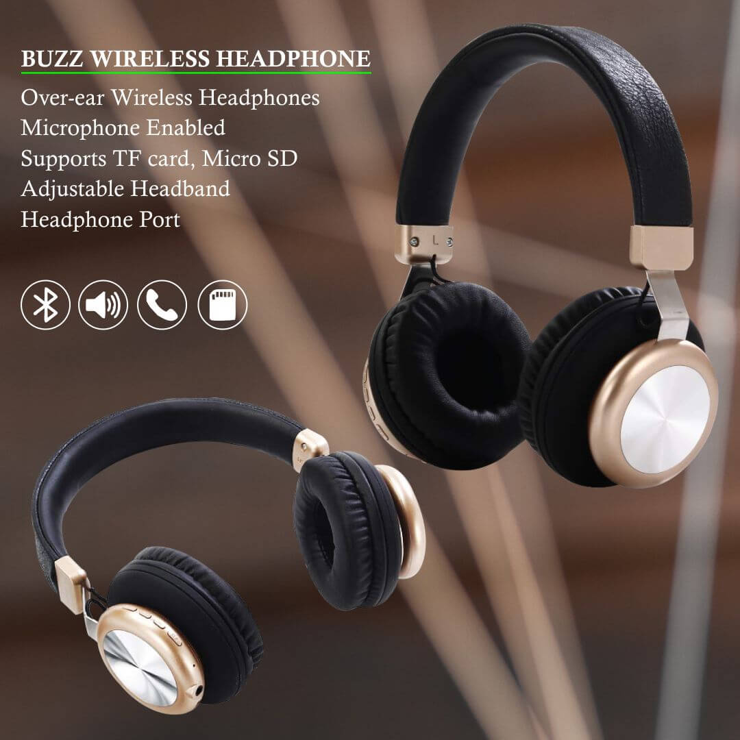 Buzz 2 in 1  Wireless & Wired Headphones