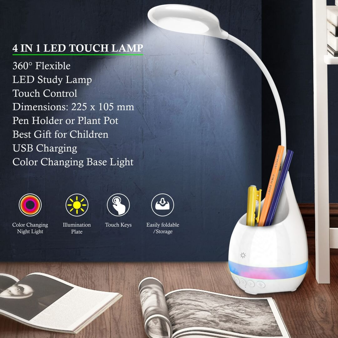 LED Touch Lamp Study Lamp 4 in 1
