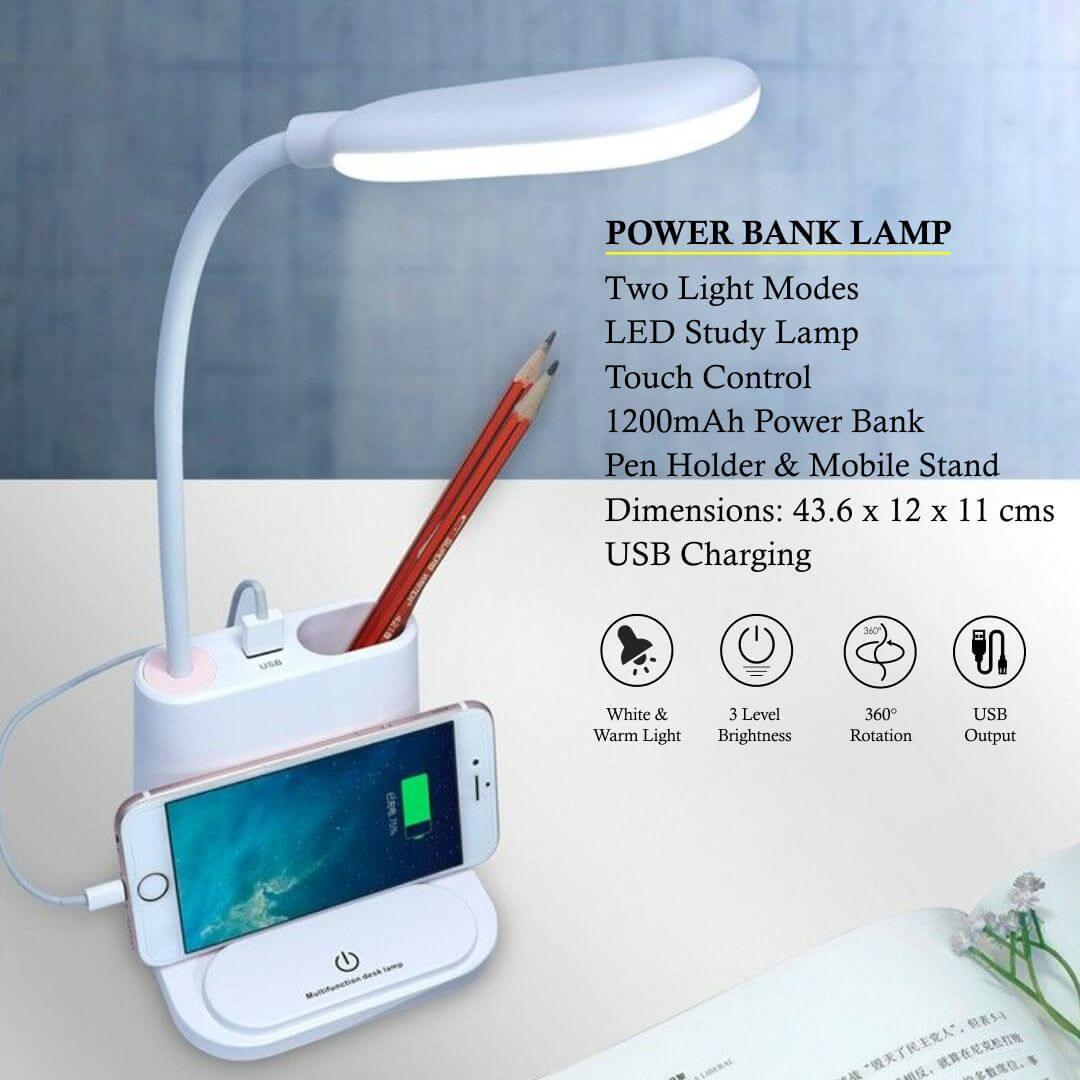 Study Power Bank Lamp