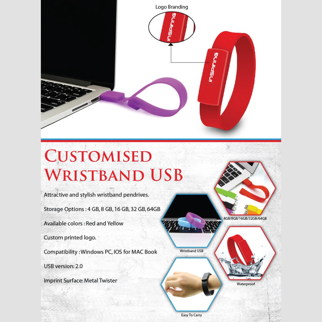 Wristband USB Pendrive
