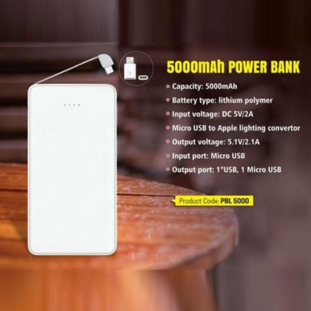 Credit Card Shape Power Bank 5000mAH