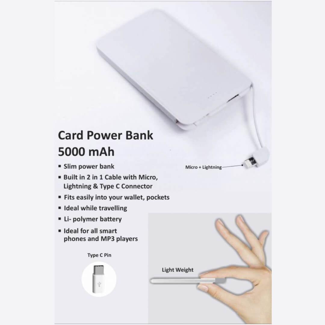 Credit Card Shape Power Bank 5000mAH
