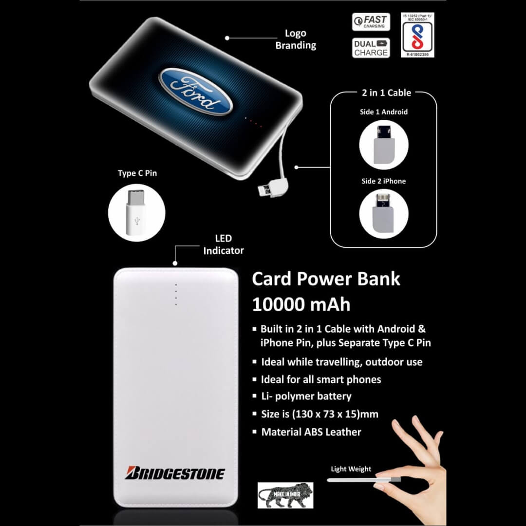 Credit Card Shape 10000mAH Power Bank