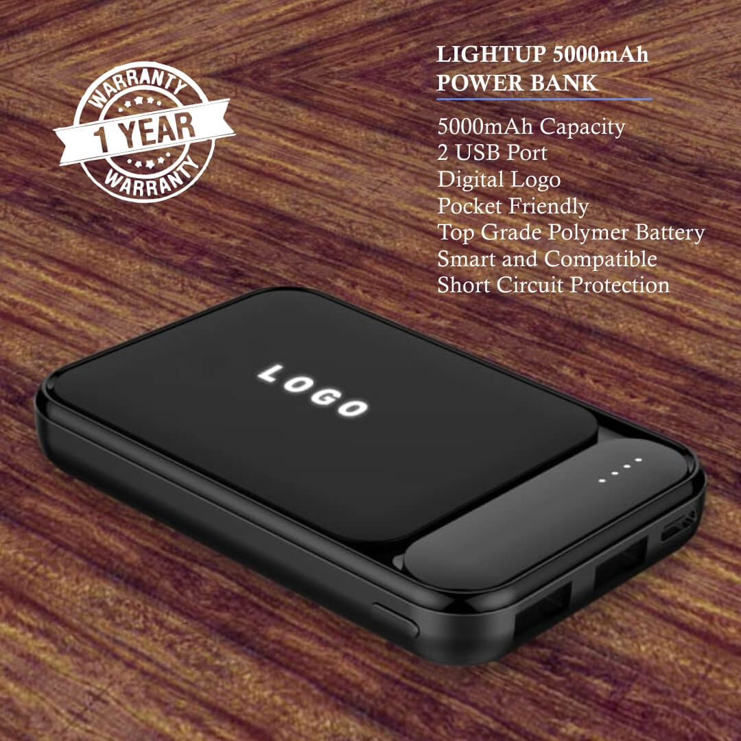 LightUp 5000mAH Power Bank
