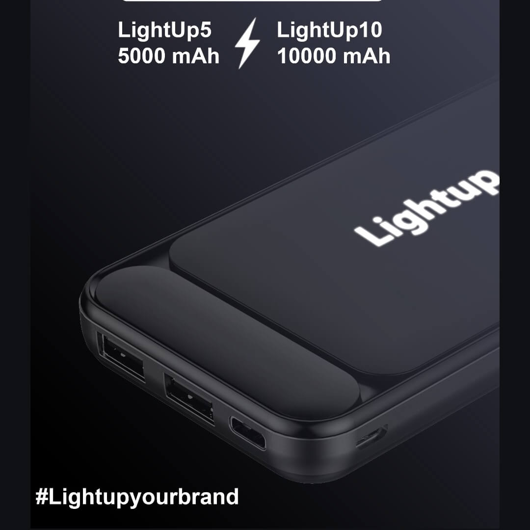 LightUp 10000mAH Power Bank