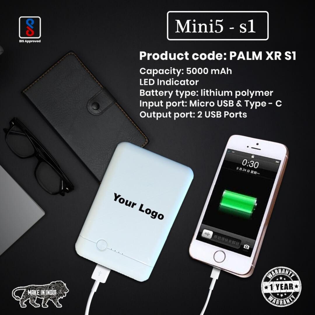 Mini 5s1 5000mAH Power Bank