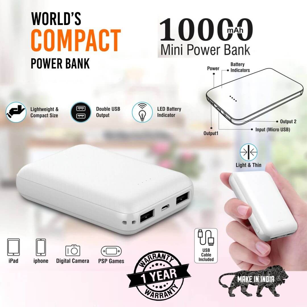Mini 10 Portable 10000mAH Power Bank