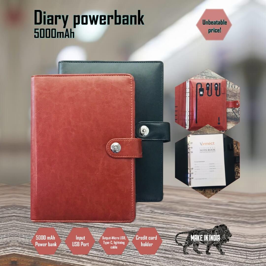 5000mAH Power Bank Diary