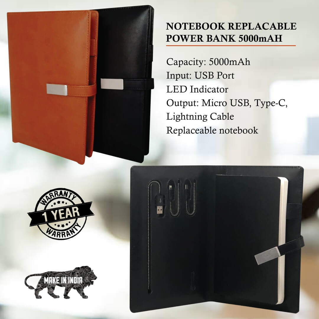 Notebook Replaceable Power Bank 5000mAH