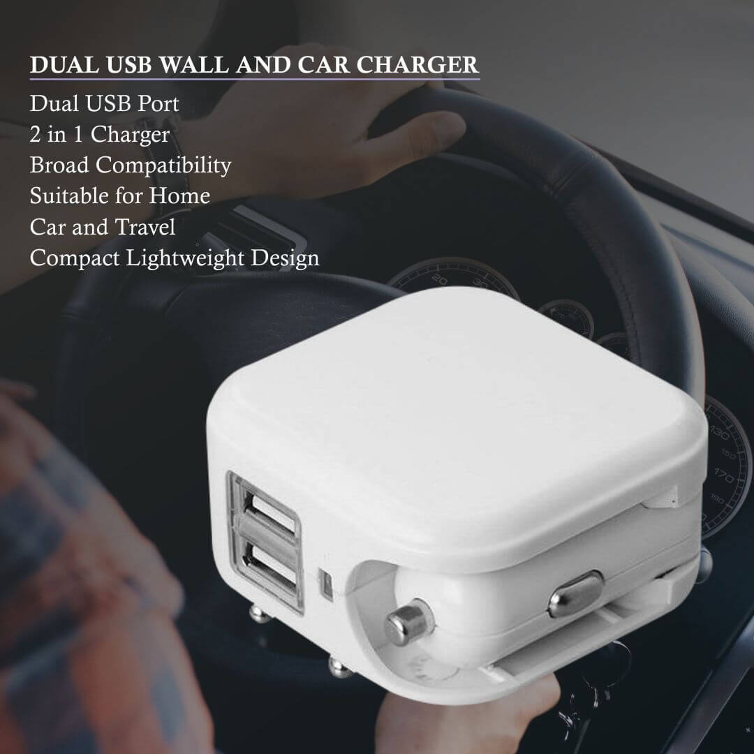 Wall and Car Charger Dual USB