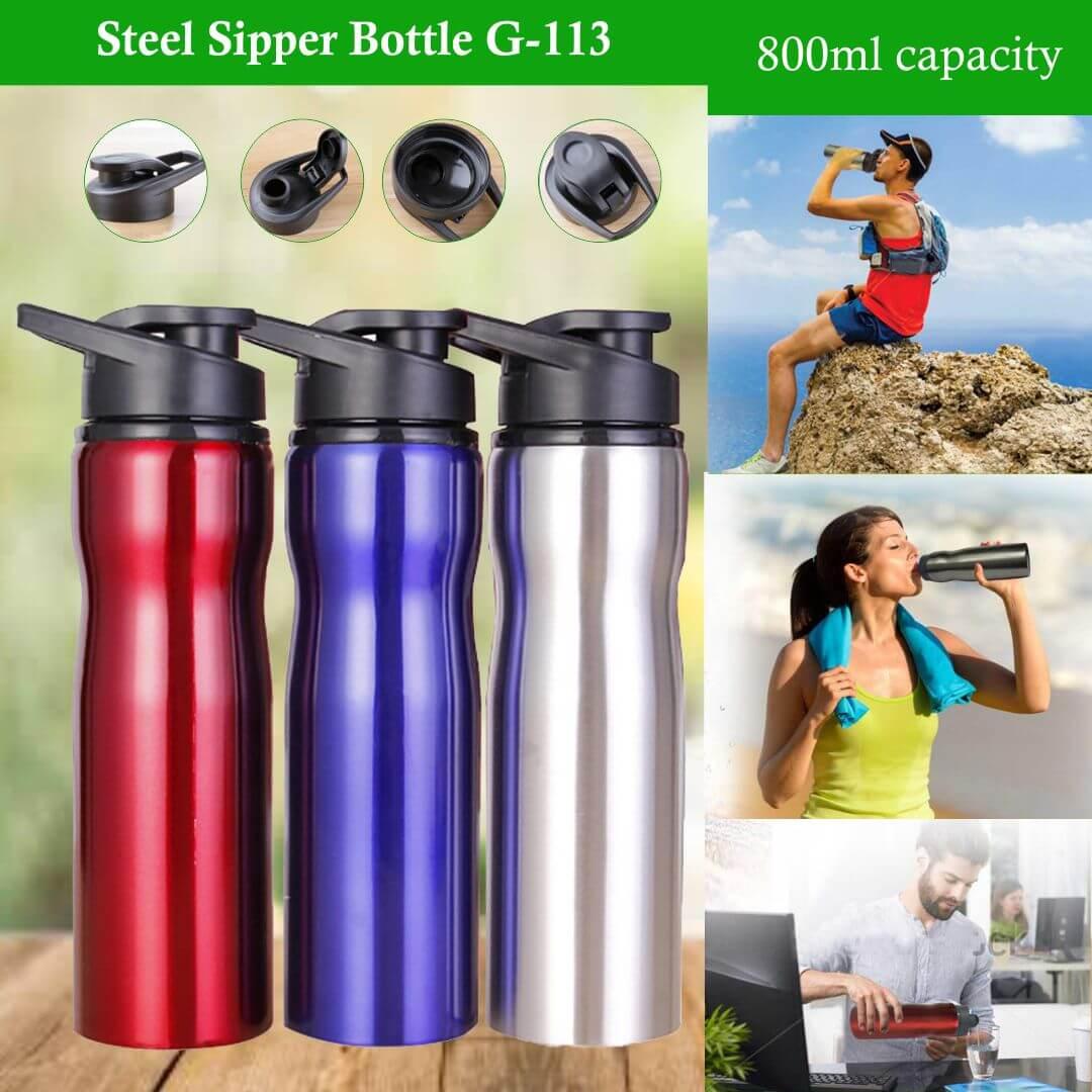 Steel Sipper Water Bottle 113