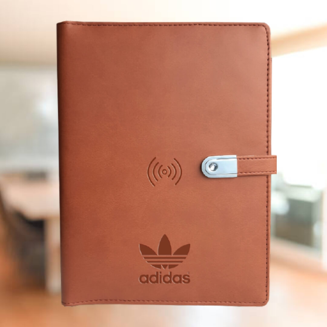 Qi Wireless Diary Power Bank 5000mAH with 16 GB USB Pendrive